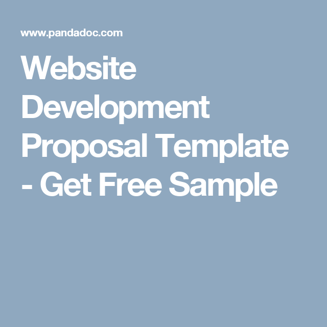 website website development proposal template