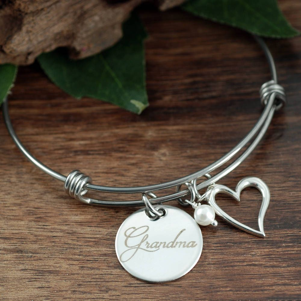 Gift For Grandma Grandmother Bracelet Personalized Christmas