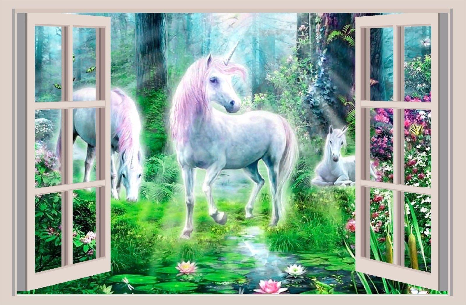 Dark Horse 3D Window Effect Wall Sticker Art Mural Decal
