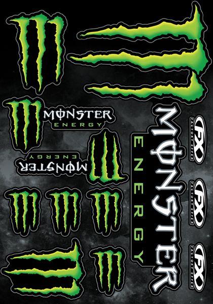 Monster Sticker Sheet 2 Adesivos Para Motos Adesivos Para Carros Adesivos Legais