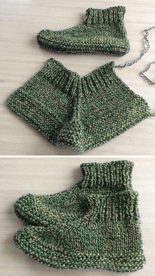 Photo of Erwachsene gestrickte Pantoffeln – kostenlose Anleitung – Free Knitting Patte…