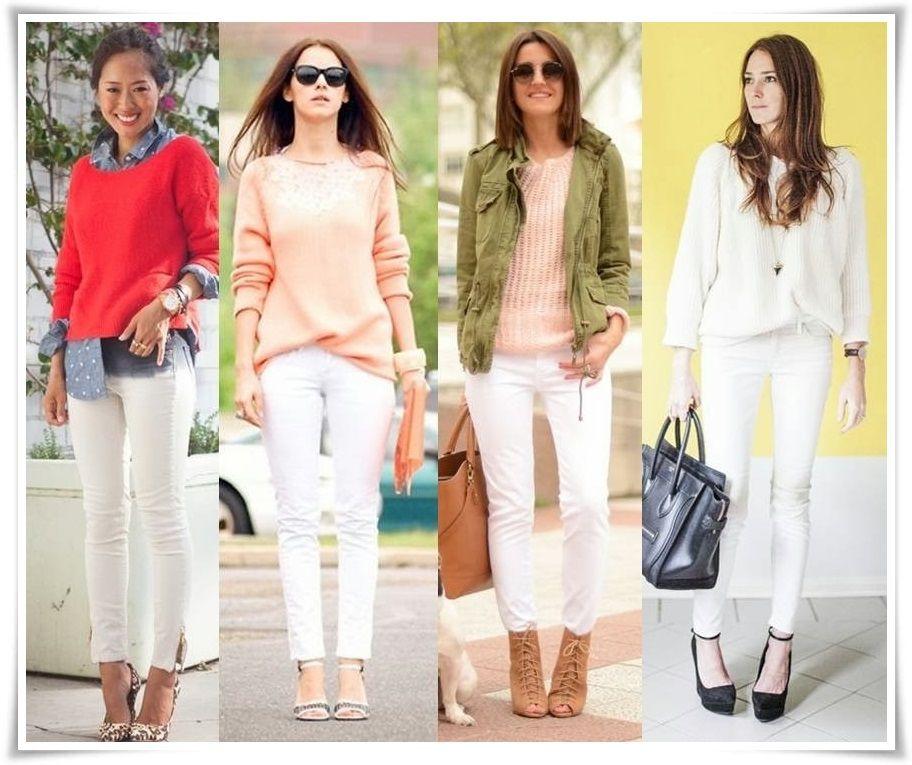 """"""" jeans branco tendência verão 2015"""""""