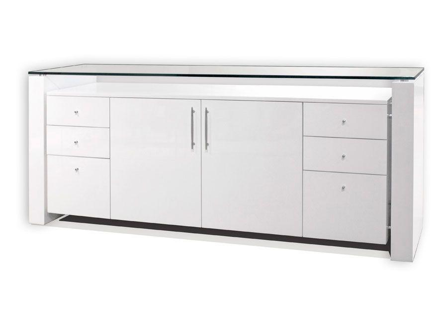 contemporary office credenza. Sh04 White Lacquer Desk | Executive Contemporary Office Credenza O