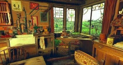 The Burrow Kitchen Very Cool Paned Windows With Images The