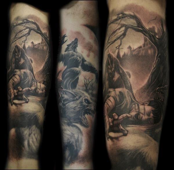 Great Wolf Tattoos Pictures Werewolf Tattoo Tattoos Tattoo Designs Men