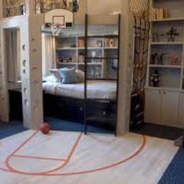 teenage boys room idea   teenage boys room   pinterest   sportlich ... - Kinderzimmer Einrichten Sport Thema