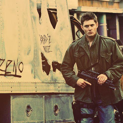 """The Dean """"he's gonna gank a b!tch#"""" Look Jensen Ackles   Dean Winchester"""