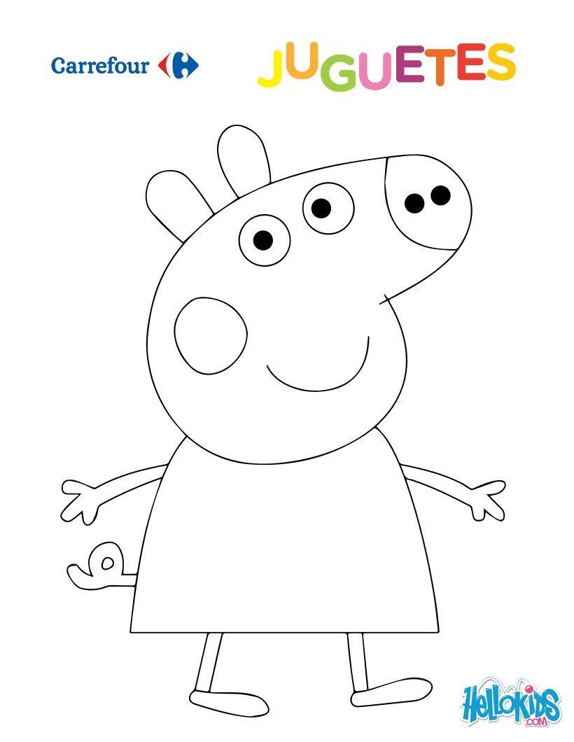 Dibujo para colorear : Peppa Pig | DECORACIONES FIESTAS INFANTILES ...