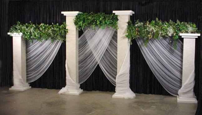 Grecian Columns and Draping for Stage Decor | Summer Wedding ...