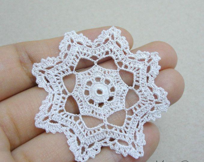 Miniature crochet square doily 1.2 inches, dollhouse crochet ...