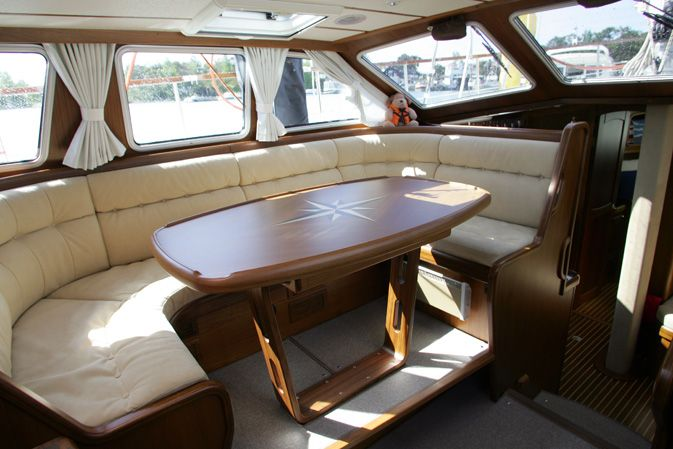 Interior Pictures Of The Nauticat 42 Pilot House Makes This Boat Very Bright And