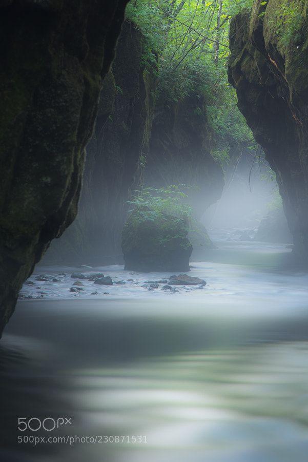 17-51:Misty Valley by momo-123 #landscape #travel