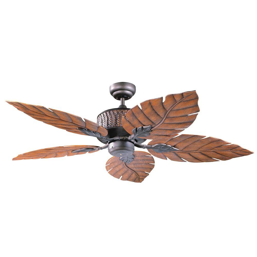 Designers Choice Collection Fern Leaf 52 In Oil Rubbed Bronze Ceiling Fan
