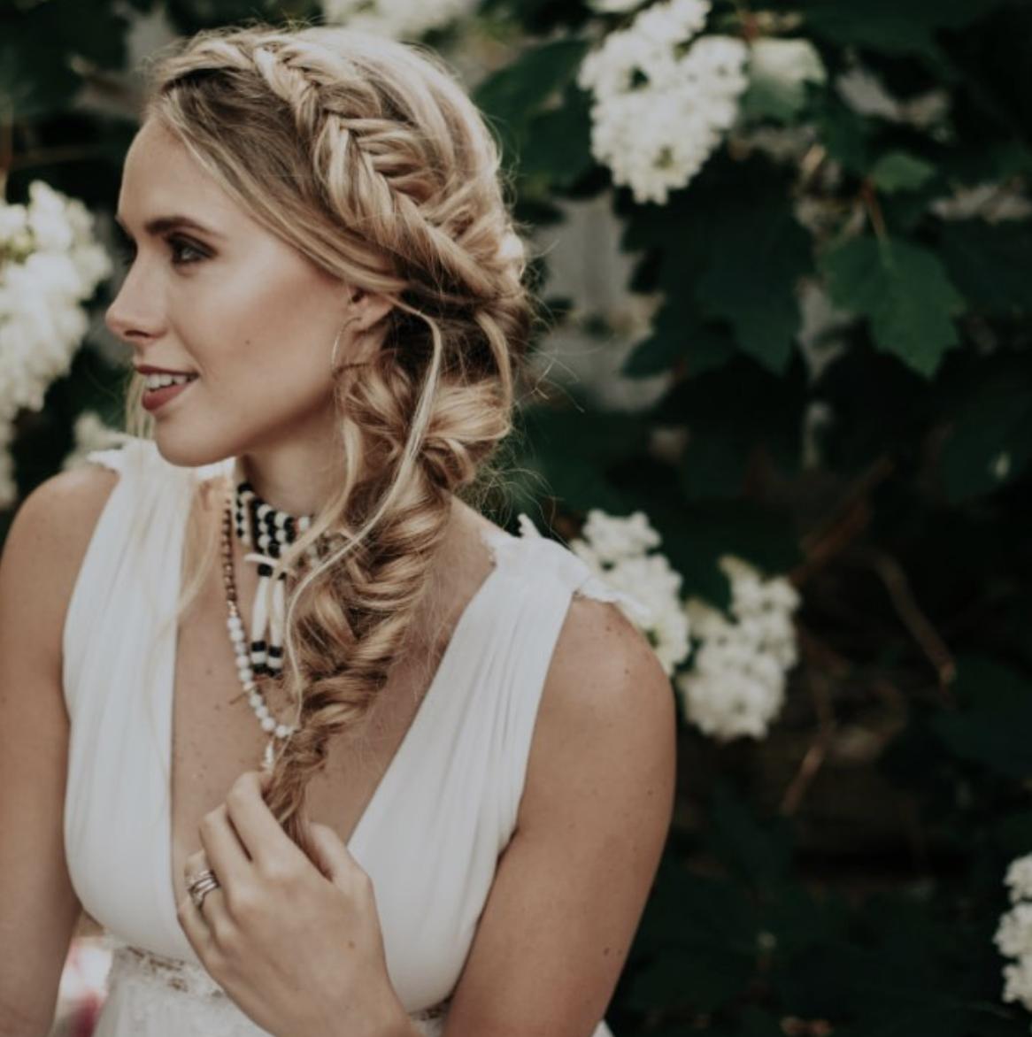 big beautiful bridal braid hair ideas | wed hair | bridal