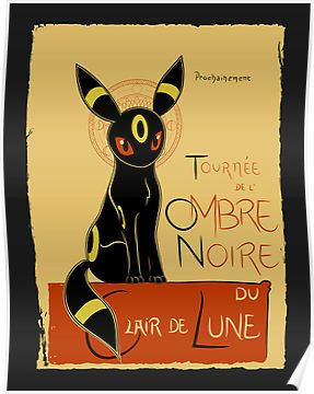 A pok themed take of le chat noir featuring umbreon - Evolution pokemon noir ...