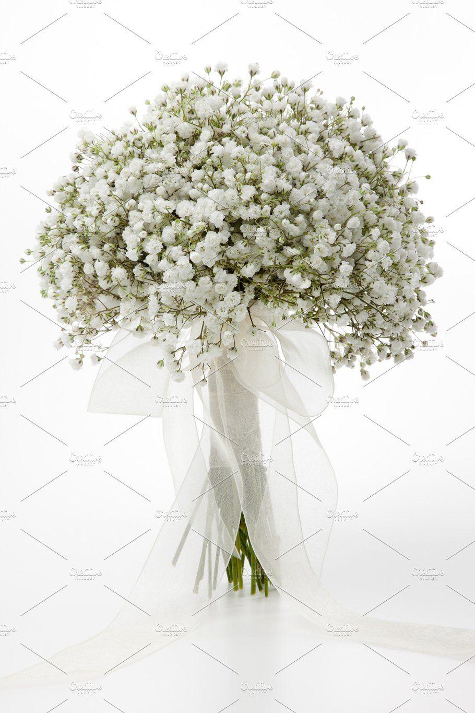 Gypsophila flowers bridal bouquet by Saltodemata on