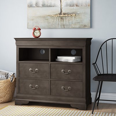 Lark Manor Babcock 4 Drawer Media Chest Furniture Home Decor Furniture Wood Bedroom Sets
