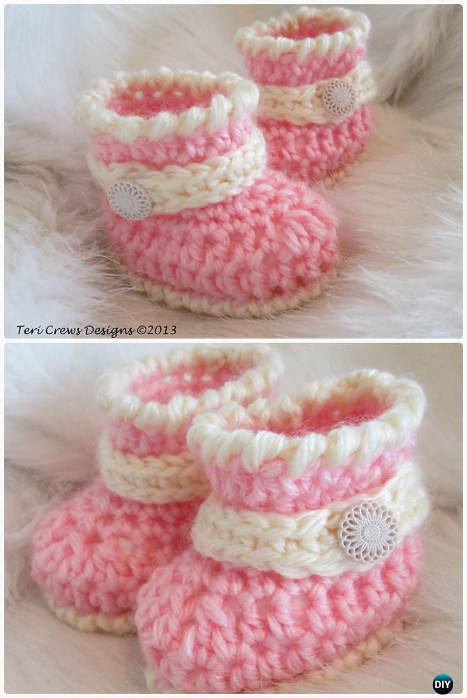 Crochet Quick Little Baby Boots Free Pattern Crochet Ankle High Baby