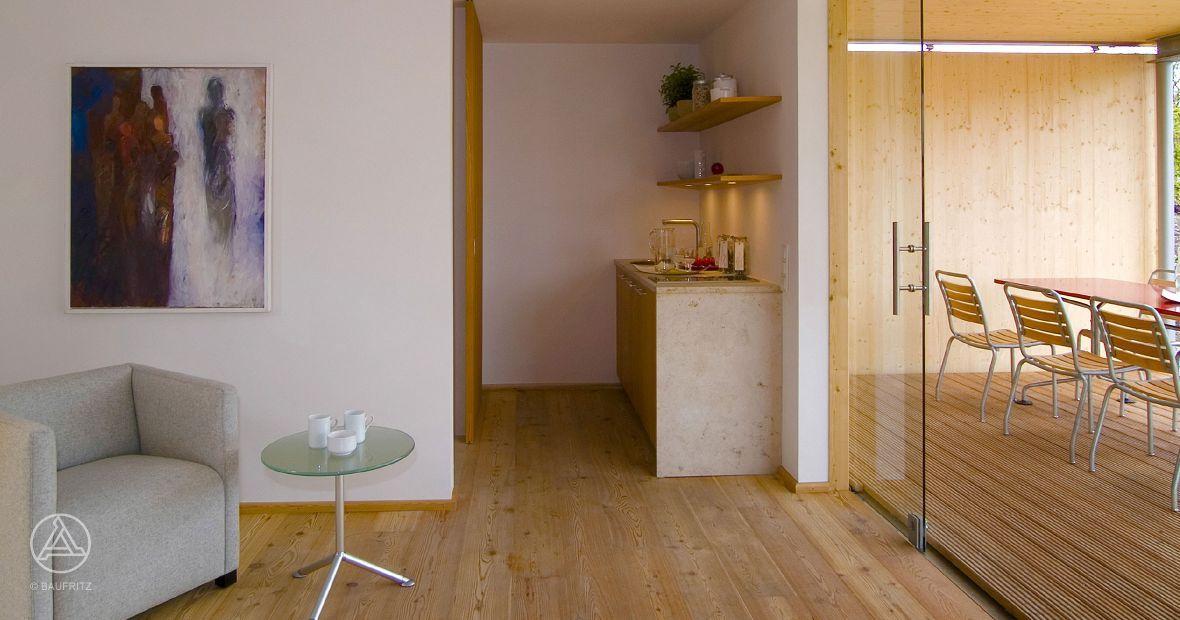 Traumhaftes #Gartenhaus oder Poolhaus mit Terrasse, Küche - küchen team 7