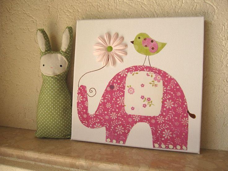 Cuadro elefante cuadros infantiles cuadros elefantes for Cuadros habitacion bebe