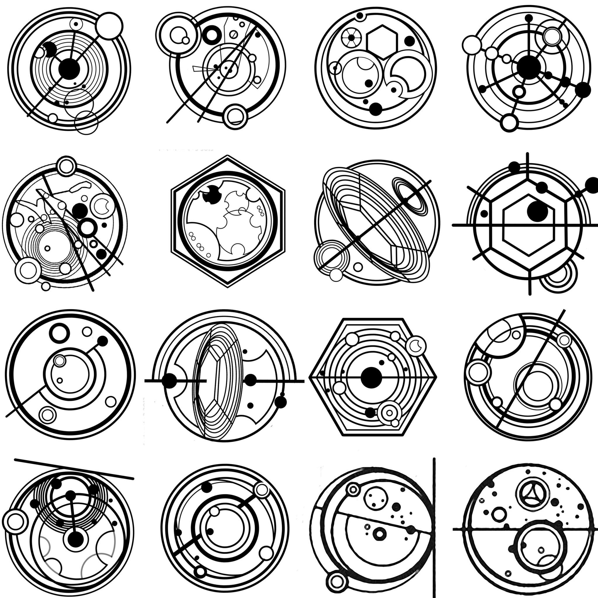 More Gallifreyan Writing From The Moment Day Of The