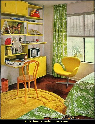 70s Theme Decorating Funky Flower Power Bedrooms 70 S
