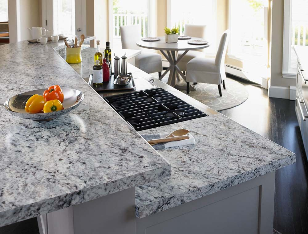 The New Formica Laminate 9476 White Ice Granite Puts The
