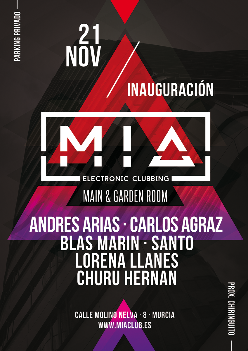 Mia Electronic Clubbing Poster Music Club Party  Djs House