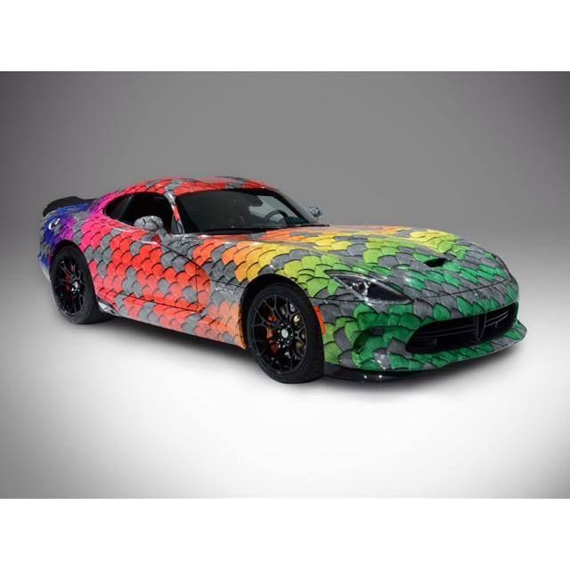 Rainbow Dodge Viper Viper Dodge Dodgeviper Bonhamchrysler Dodge Viper Dodge Dodge Srt