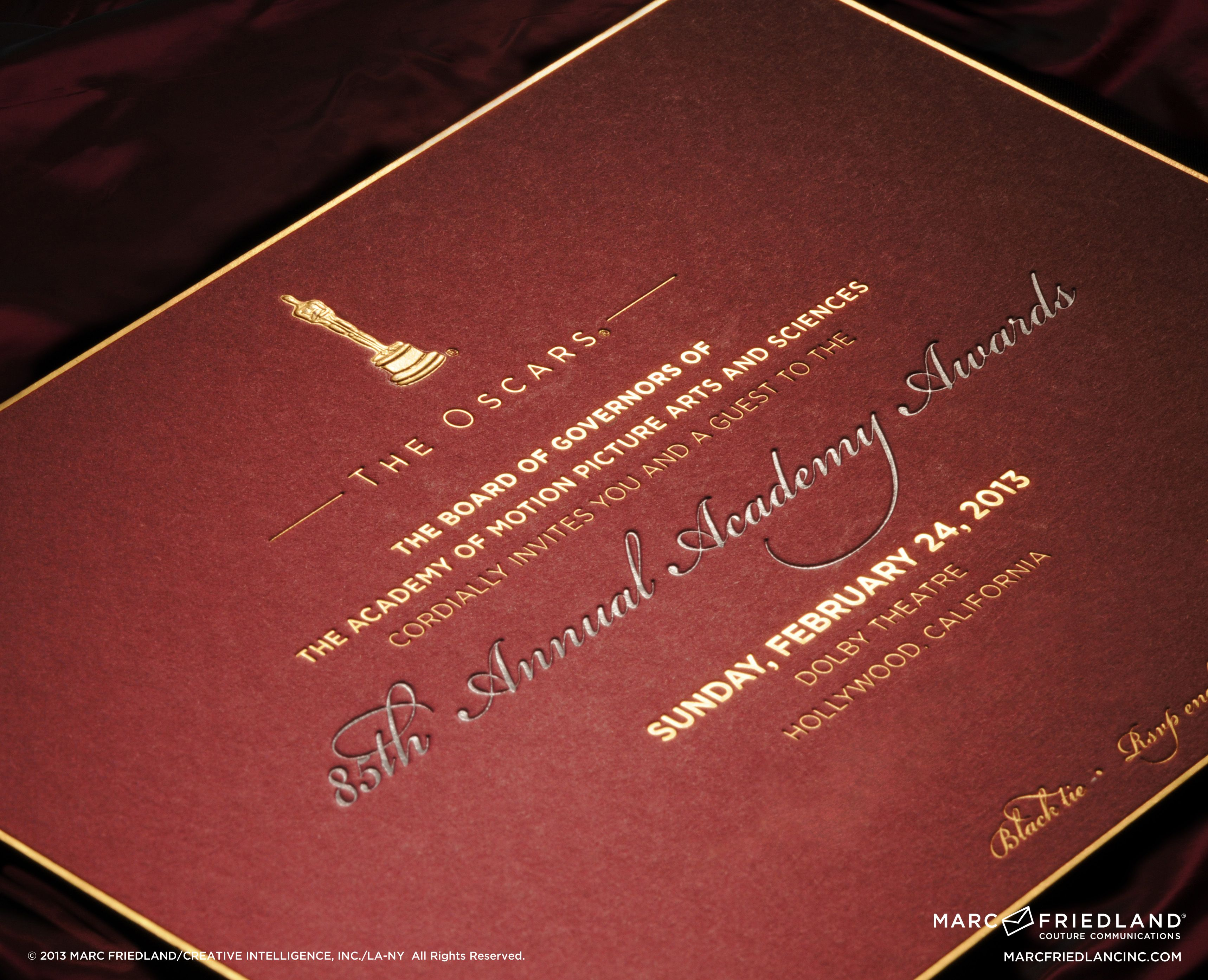 Academy Award invitation | Wedding: Song of Songs | Pinterest ...