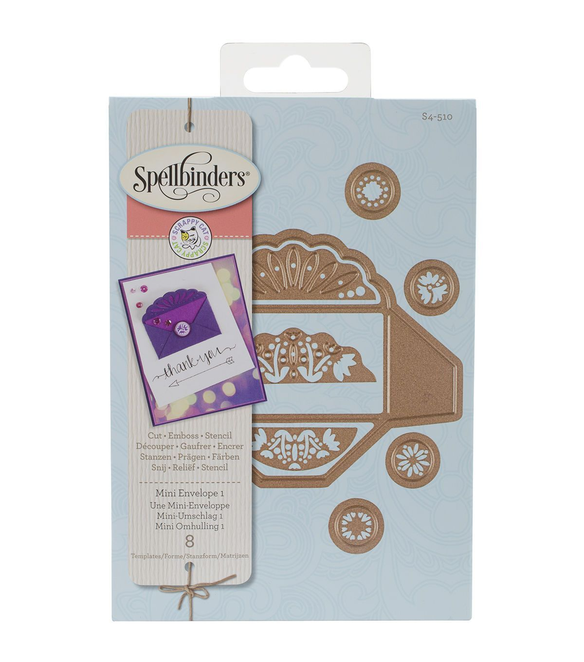 Make pretty die-cut embellishments for a variety of craft projects using the Spellbinders Designer Dies. These cute and eye-catching decorative dies are compatible with most brands of die-cutting syst