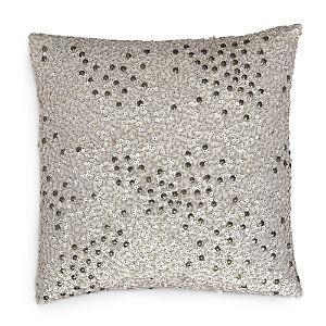Donna Karan Reflection Silver Sequin Decorative Pillow, 12 x 12