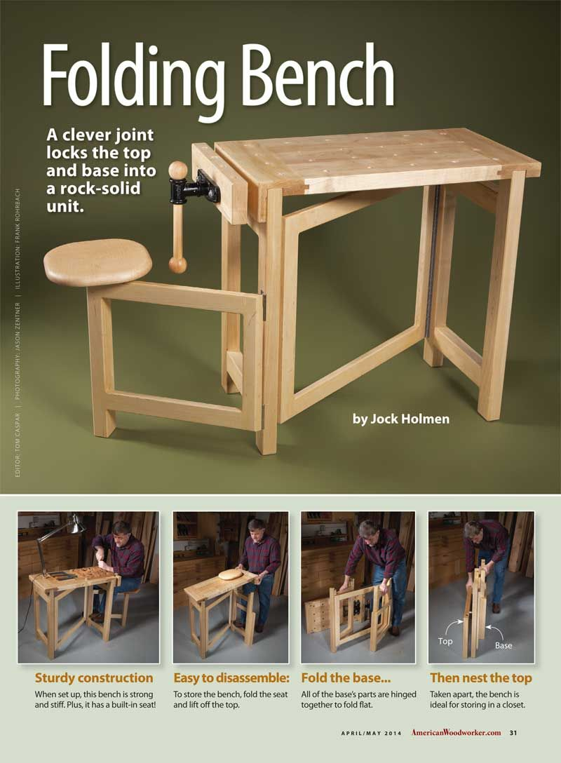 Folding Workbench - great for traveling and small spaces