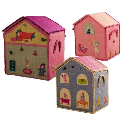 Rice Toy Baskets In orted Girls House Designs - Fig. 1 | Girl ...