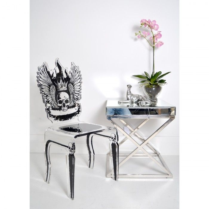 Let's Rock - Acrylic Skull Chair