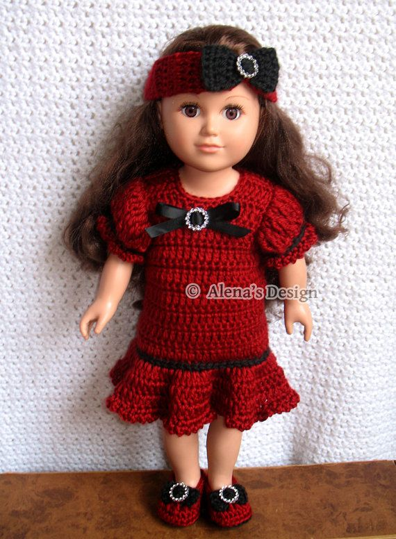 Crochet Pattern 3 PC Set for 18 in Doll Crochet Patterns Holiday ...