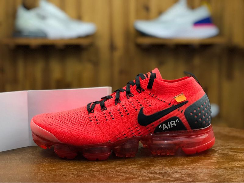 10969accb7471 2018 Nike Air Vapormax Flyknit 2.0 Mens Athletic Shoes Red Black 942842-006