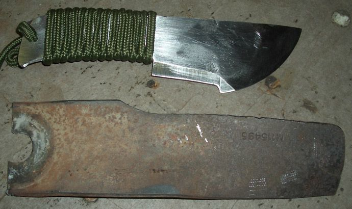 Knife From A Mower Blade Think Outside The Box Lawnmowerbladeknife Backyardwaterfeature Lawn Mower Blades Knife Mower