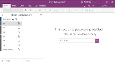 Continuous formation: Escape Room / BreakOut in OneNote