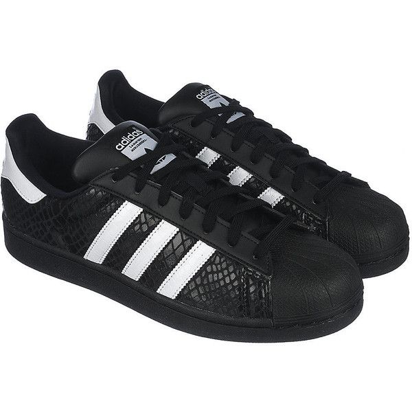 adidas The Superstar Sneaker in Black (715 ZAR) ❤ liked on Polyvore featuring men's fashion, men's shoes, men's sneakers, mens breathable shoes, mens black shoes, adidas mens sneakers, mens black sneakers and adidas mens shoes
