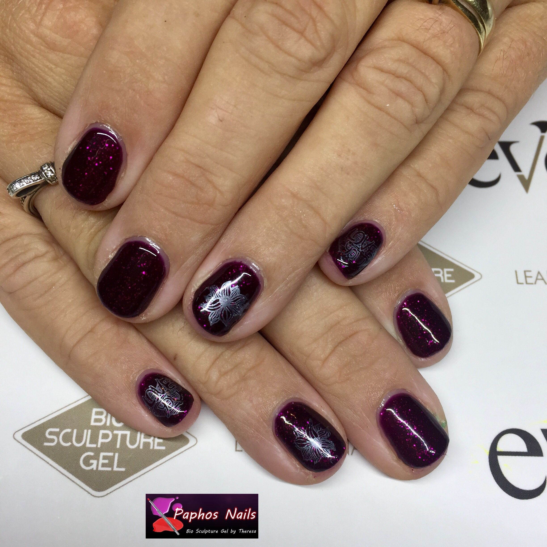 #madglamourcollection #partypopper #purpleglitter #silver #stamping #paphosnails #biosculpturebytheresa #kissonerganails #biosculpturecyprus