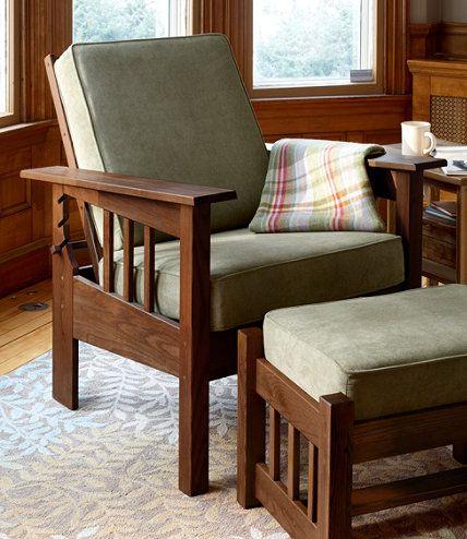 Morris Chair With Sage Cushion: Chairs At L.L.Bean   More Than Iu0027d