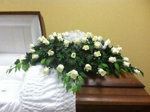 Pearl silk flower casket spray for 14500 available at httpwww pearl silk flower casket spray for 14500 available at httpthecasketstore flowers mightylinksfo
