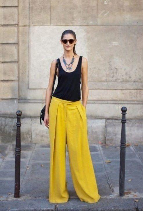 Photo of 35 Pantalon jaune femme