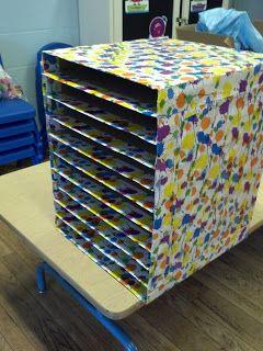 Pre K Blessings Art Drying Rack Diy Classroom Art Classroom