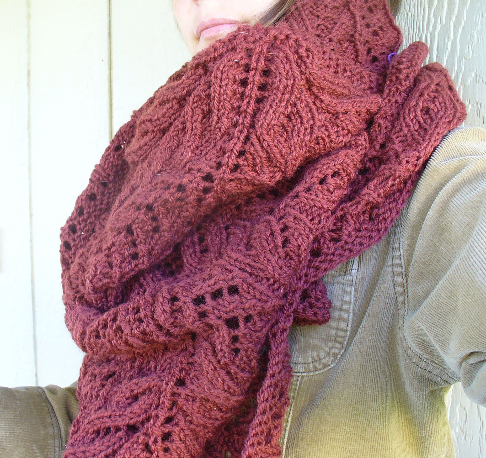 "new pattern : farid shawl large scale lace; ""blanket"" like shawl #knitting, #lace, #pattern"