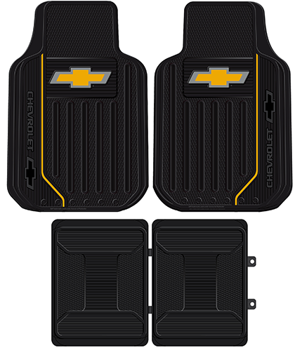 Chevrolet Universal Fit 4 Piece Floor Mats Fit 4 Floor Mats