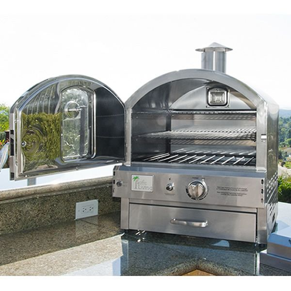 Pacific Living Outdoor Pizza Oven 430 Stainless Steel Woodlanddirect Com Outdoor Fireplaces Pizza Ovens With Images Outdoor Pizza Outdoor Oven Outdoor Kitchen Design