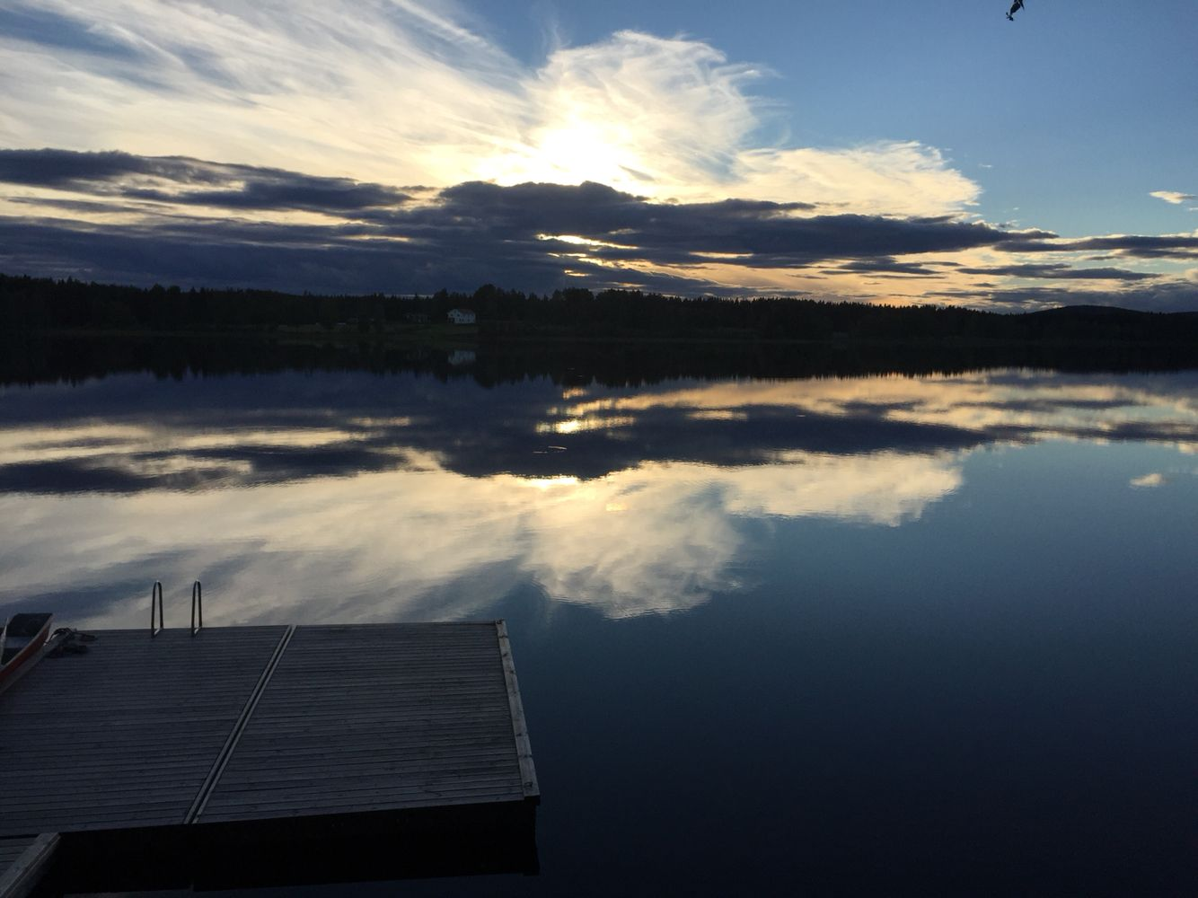 View from My Lake house in the middle of Sweden