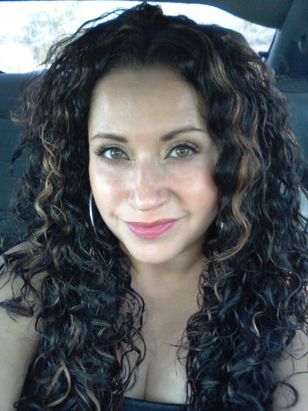 Long Dark Curly Hair With Highlights 3 And 1 Conditioner Mousse